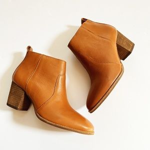 NEW Madewell Leather Stacked Heel Brenner Boot